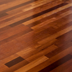 Brazilian Cherry is another exotic wood known for its extreme color variation which include red & brown tones. The coloring of Brazilian Cherry also gets richer and darkens with exposure to light to create a beautiful work of art in your home