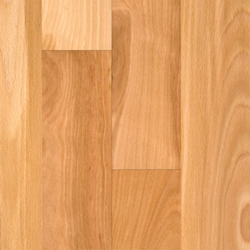 Beech features a tight and straight grain for the most part with moderate color variation from board to board. Beech heartwood is a warm brown color with red undertones
