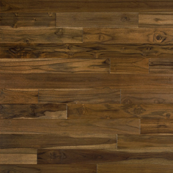 Brazilian Teak is a more mild exotic hardwood with minimal graining. Initial color range includes tan to medium brown tones with limited reddish highlights. Over time, with exposure to light, this color variation with Brazilian Teak evens out a bit and the floor will become more uniform to a medium brown color